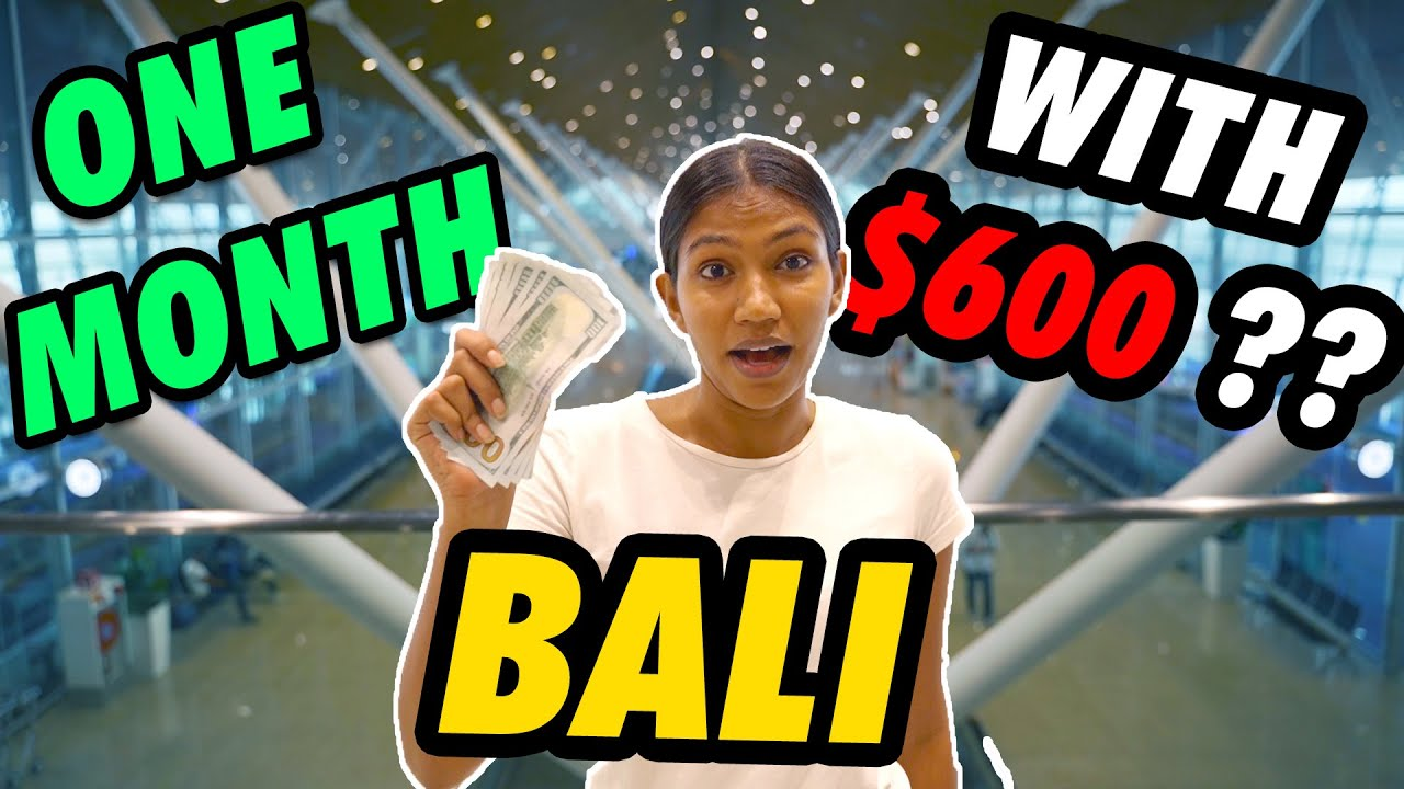 How to travel BALI for 1 month in UNDER $600!