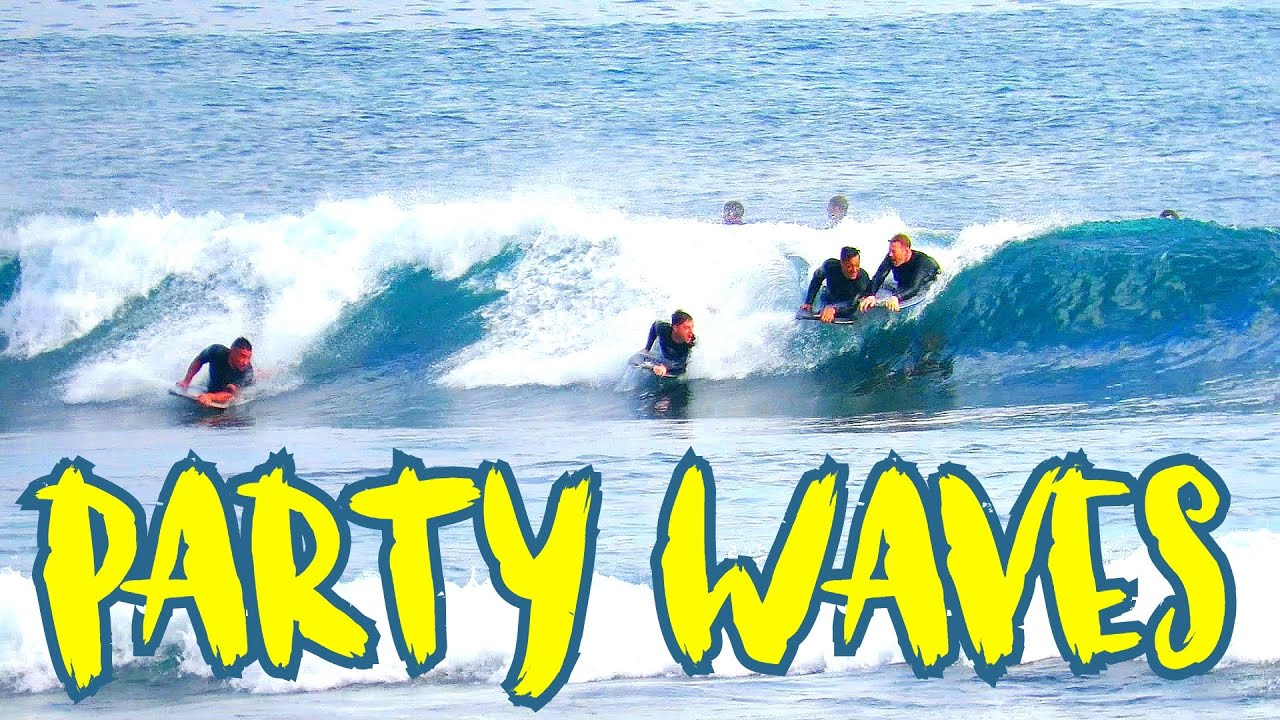 PARTY WAVES and Bali Bodyboarding FUN